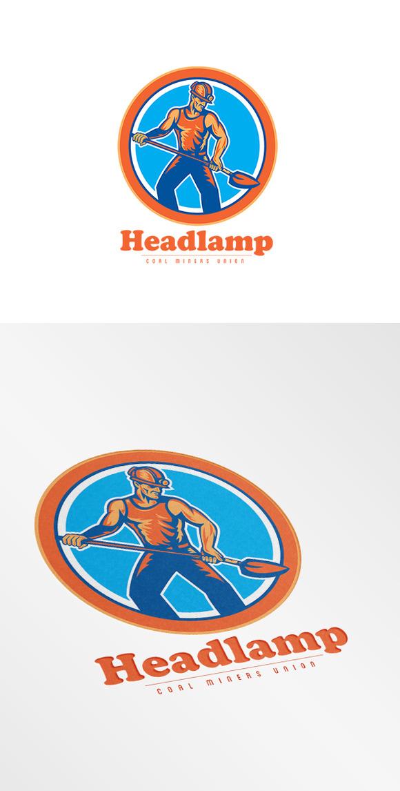 Headlamp Coal Miners Union Logo