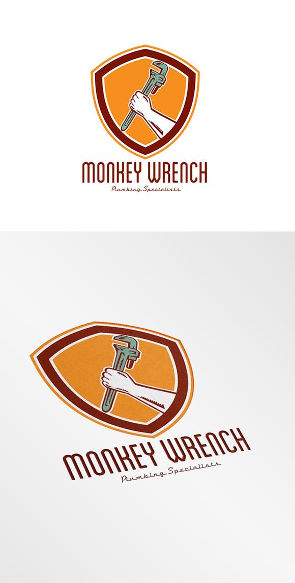 Monkey Wrench Plumbing Logo