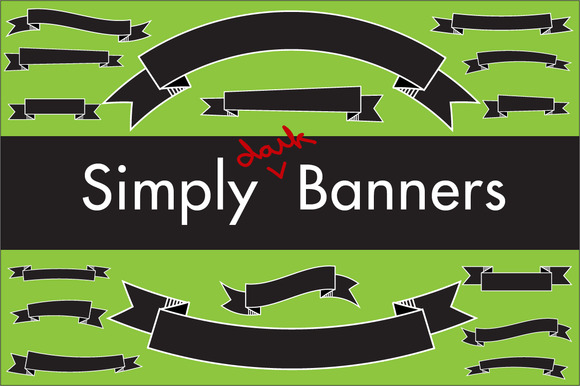 Simply Dark Banners