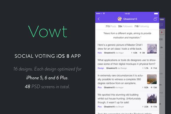 Vowt Social Voting IOS 8 App