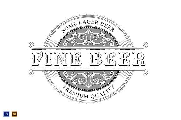 Vintage Logo Beer Label
