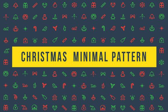Christmas Minimal Pattern