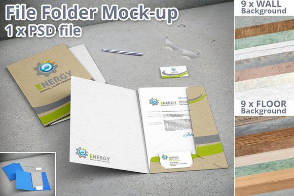 File Folder Stationery Mock-up