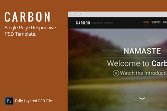 CARBON Single Page PSD Template