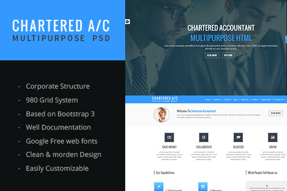 CHARTERED A C Multipurpose Template