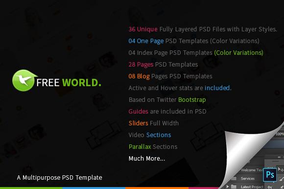 FREE World Multipurpose PSD Template