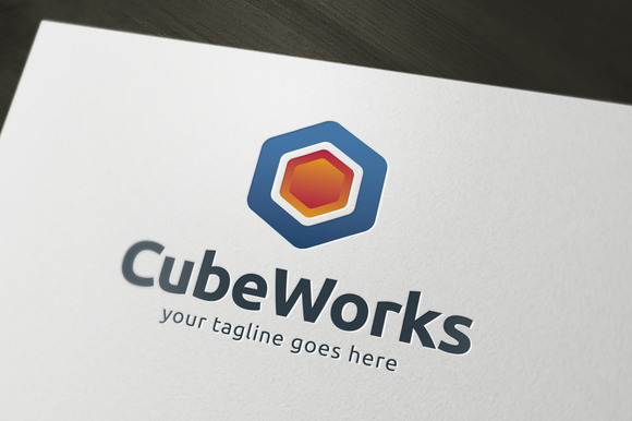 Cube Works Logo Tempate