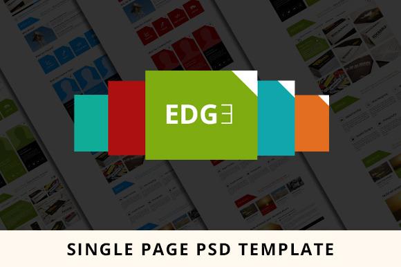 Single Page EDGE PSD Template