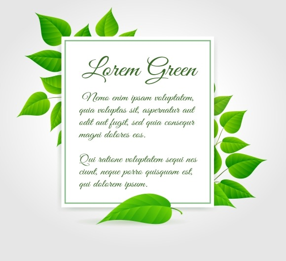Fresh Green Leaf Border