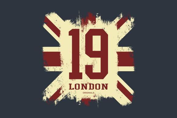 Number London Tee Print Vector
