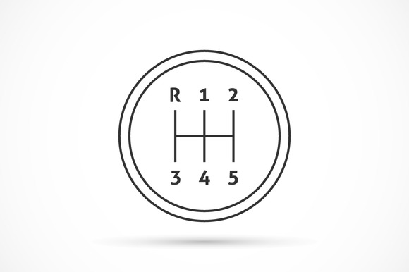 Manual Transmission Outline Icon