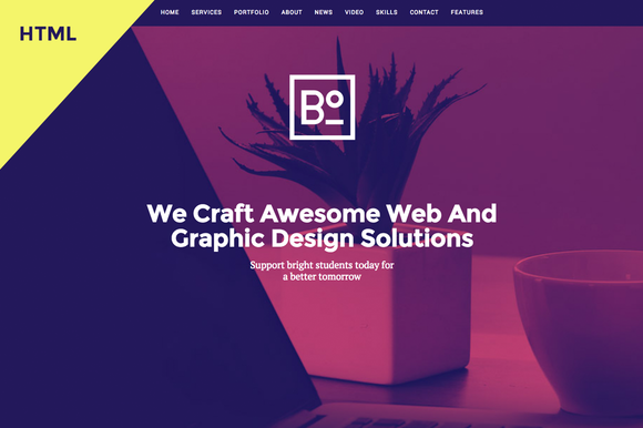 Boxus One Page HTML Template