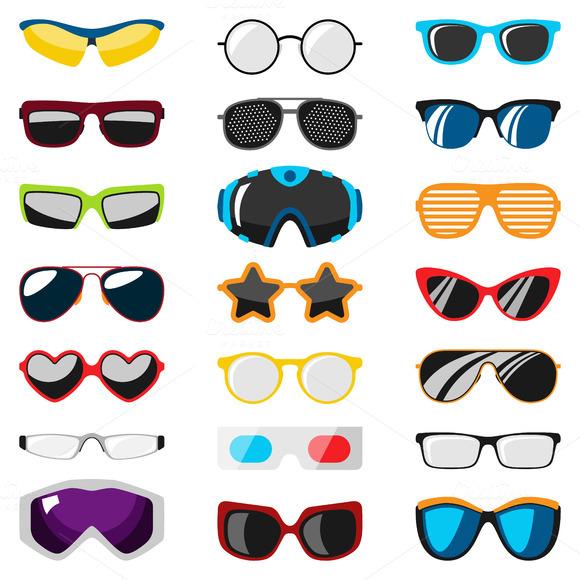 Vector Glasses Eyesight Equipment