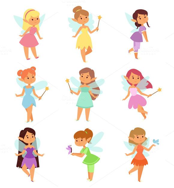 Princesses Fairy Vector