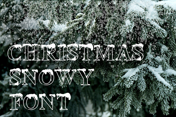 Christmas Snowy Font