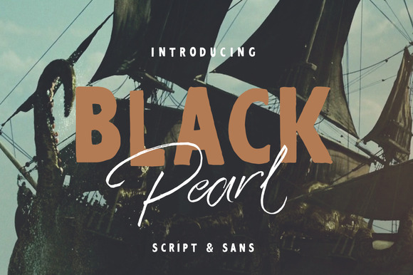 Black Pearl Font Duo Extras
