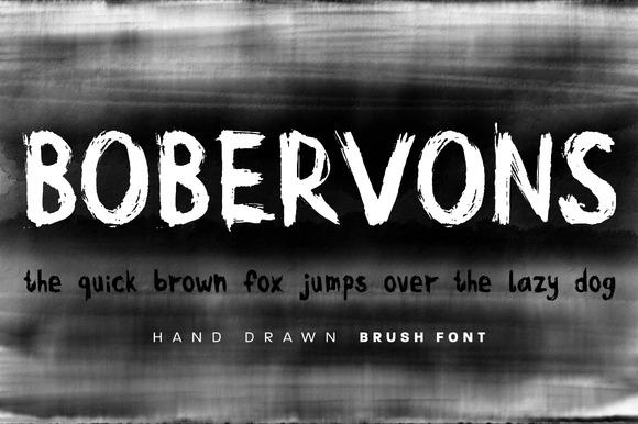 Bobervons Hand Drawn Font