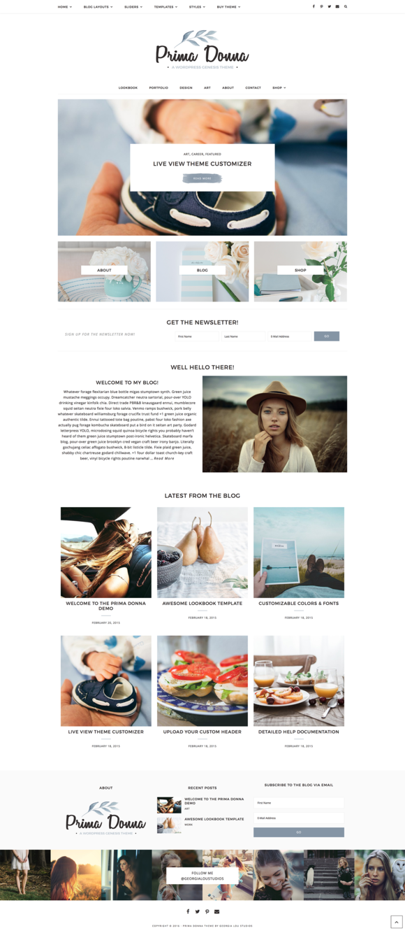 Genesis WordPress Theme Prima Donna