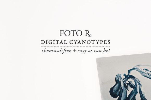 Digital Cyanotype Effect