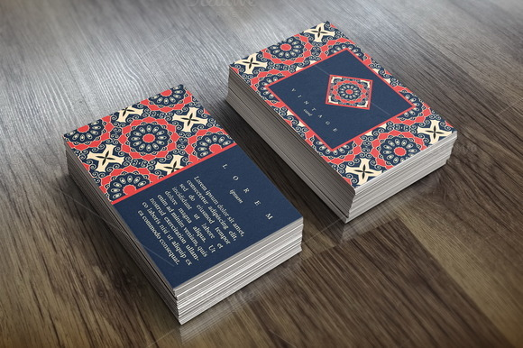Card Template In Ethnic Style