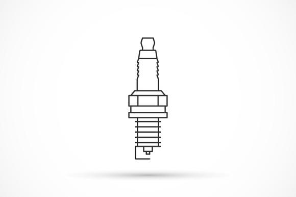 Spark Plug Outline Icon