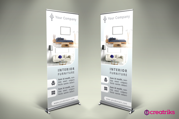 Action Photoshop Free Download Roll Up Banner Stand Designtube Creative Design Content