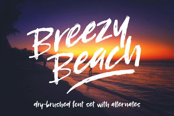 Breezy Beach Dry Brush Font