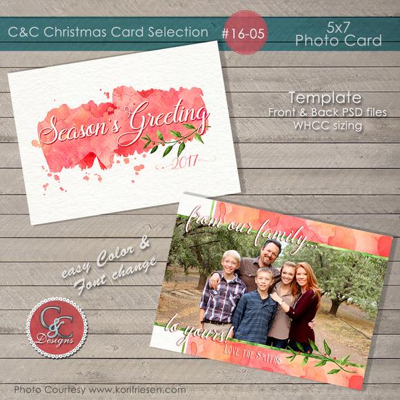 Christmas Photo Card Selection#16-05