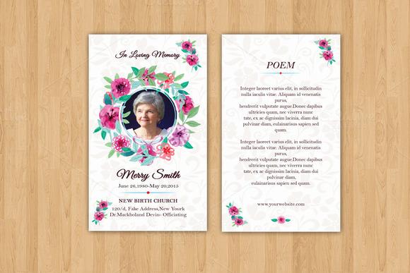 Funeral Prayer Card Template-V615