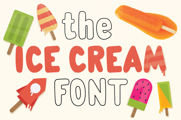 The Ice Cream Font Yumi