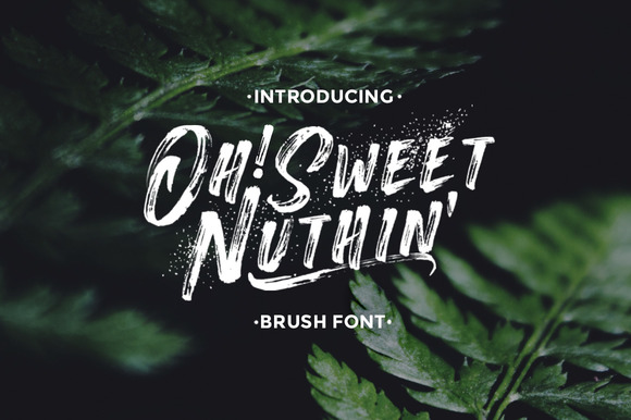 OhSweetNuthin Handcrafted Font