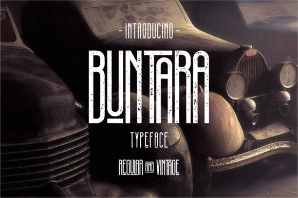 Buntara Typeface