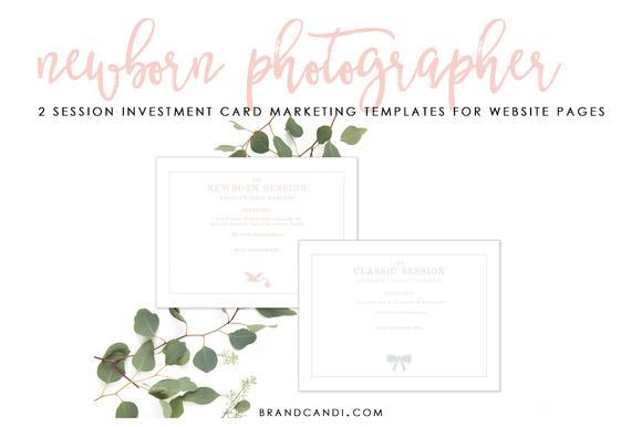 Newborn Photographer Marketing Card