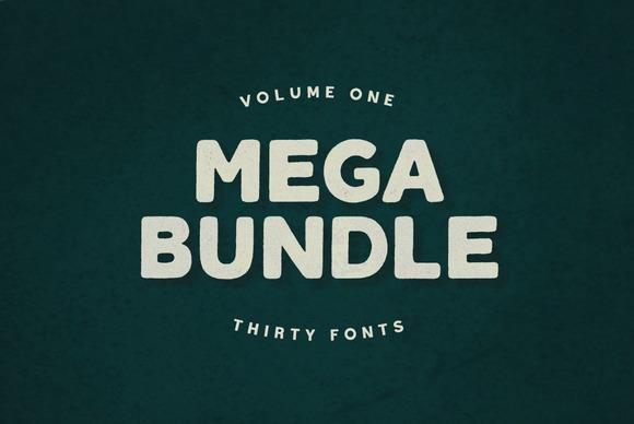 Mega Bundle Vol 1 30 Fonts
