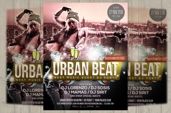 Urban Beat Flyer Poster