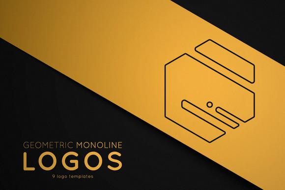 Geometric Monoline Logos