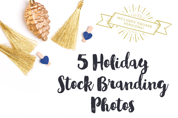Gold Blue Holiday Brand Photos