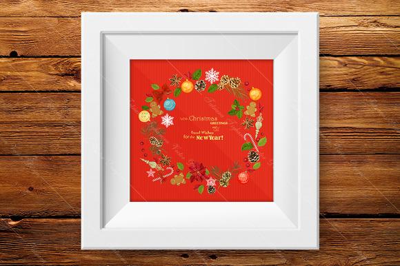 Christmas Greeting Card New Year