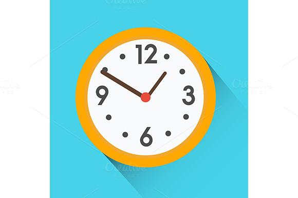 Yellow Round Clock Icon