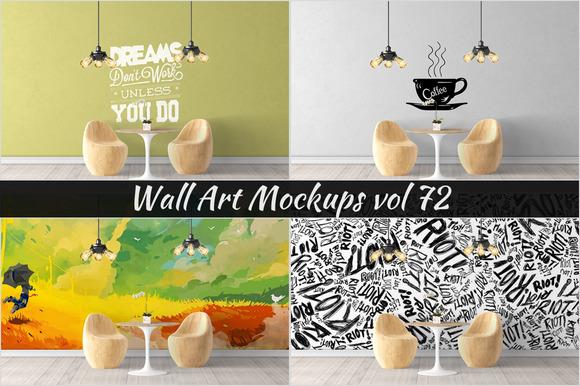 Wall Mockup Sticker Mockup Vol 72