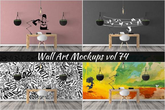 Wall Mockup Sticker Mockup Vol 74