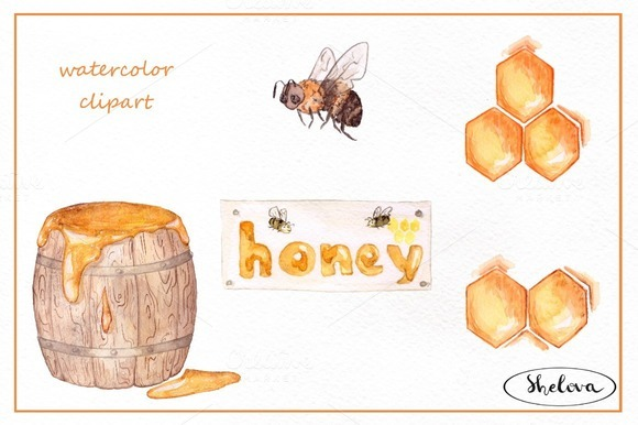 Honey Watercolor Set