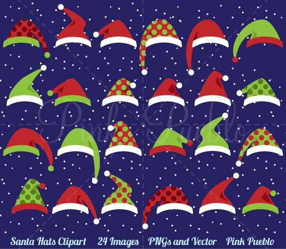 Santa Hat Clipart And Vectors