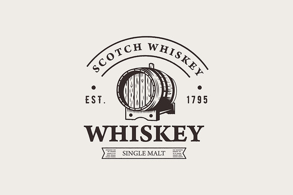 Hand Drawn Whiskey Logo