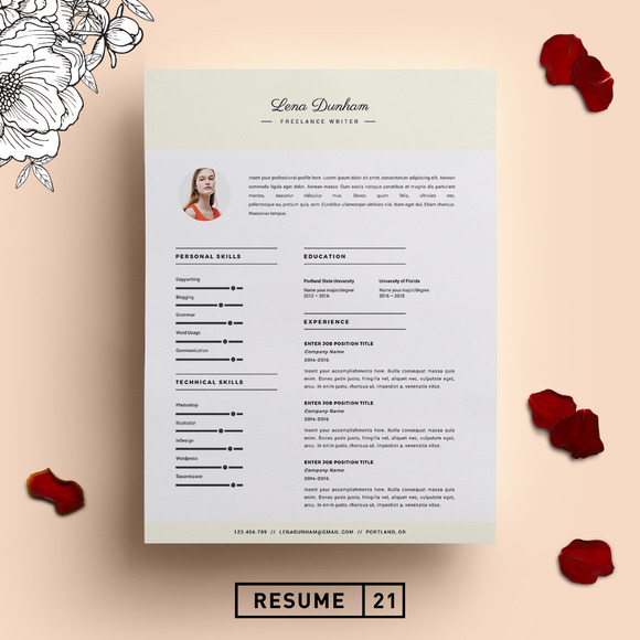 Writer Resume Template CV