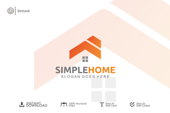 Simple Home Logo
