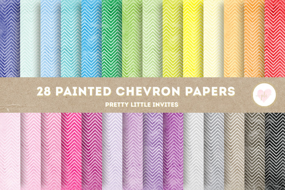 Painted Chevron Digital Papers