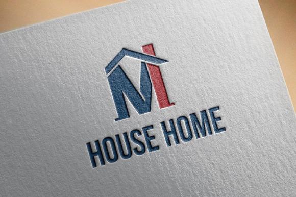 M MI Letter House Home Logo