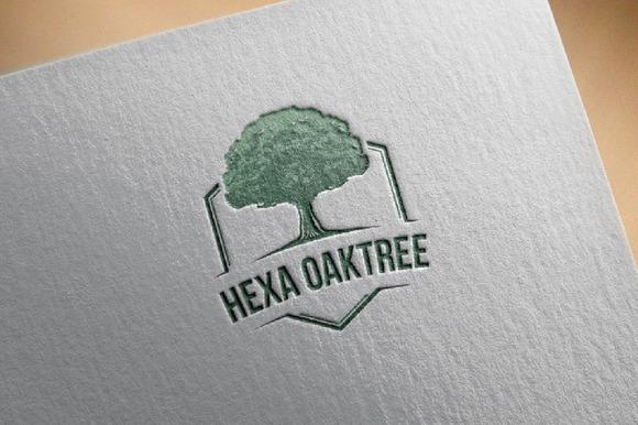 Hexagon Oak Tree Ecology Badge