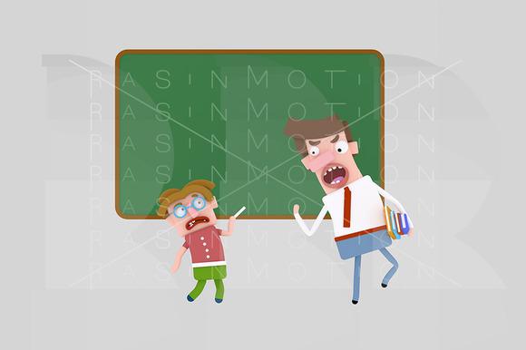 3D Illustration Teacher Shouting